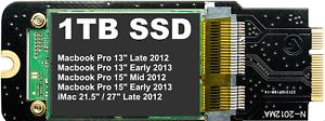 "1TB SSD per Apple MacBook Pro 13""/15"" & iMac 21.5""/27"" (2012 - 2013 modelli)"