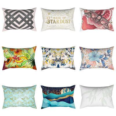 """18/"""" Geometric Plaid Peach Skin Square Throw Pillow Case Cushion Cover Sanwood"""