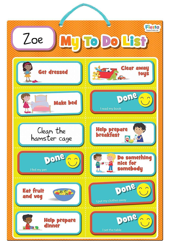 """Fiesta Crafts Niños Magnético """"mi lista de tareas"""" tareas"""" tareas"""" - a Estrenar     Tu satisfacción es nuestro objetivo"""