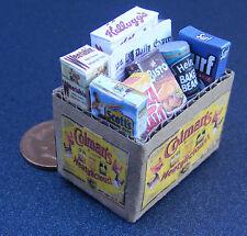 1:12 pieno CARTONE Grocery BOX DOLLS HOUSE miniatura ACCESSORIO CUCINA Colmans