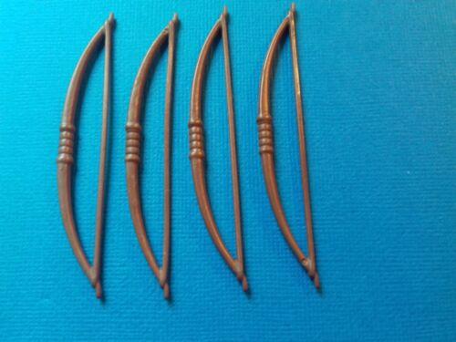 4 grands arcs marrons pour vos guerriers indiens PLAYMOBIL Western