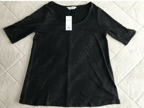New Black and Silver Maternity Tshirt size 10-12