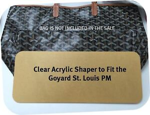 9f867e11487e Clear Acrylic Base Shaper Liner Board That Fit Goyard St Louis PM ...