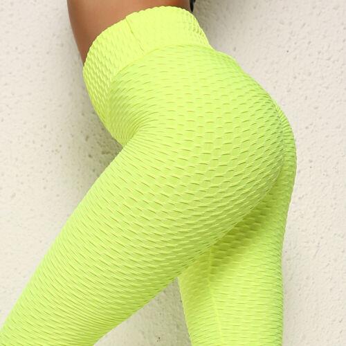 Damen Anti Cellulite PUSH UP Yoga Leggings Sports Hose High Waist Jogginghose