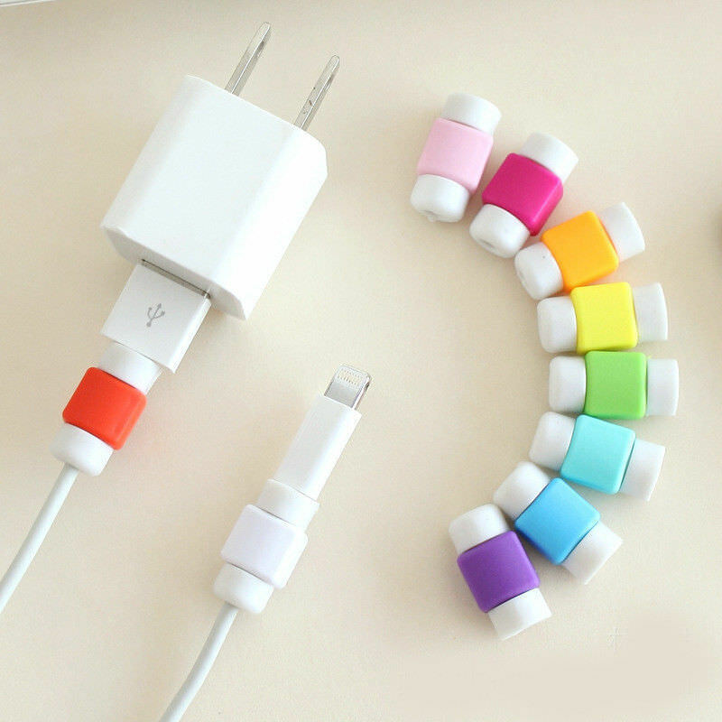 10pcs Charger Cable Saver Cover USB Charging Cord Protector for iPhone FF LL