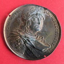 Richard I 1189 - 1199 Dassier 40mm Uniface presionado medalla de bronce