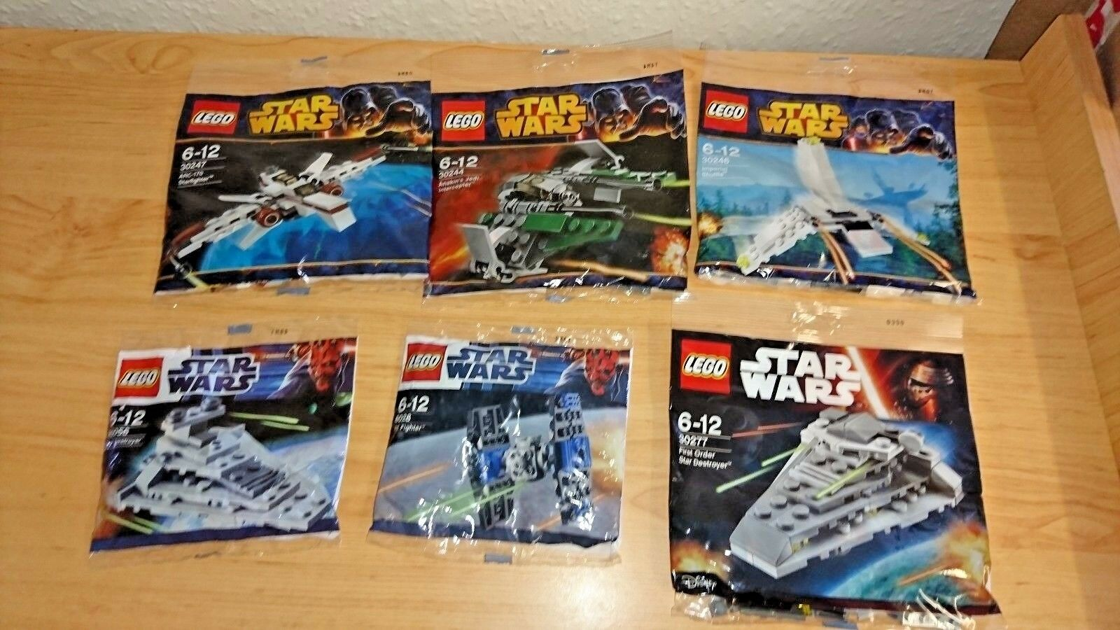 LEGO STAR WARS POLYBAG`s x 6 (SEALED)