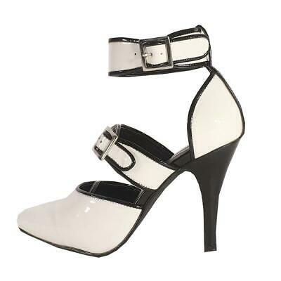 Black and White Platform Sandals Shoes MicheleX 8071 LC01