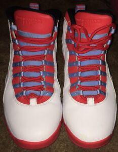 Air Jordan 10 Retro X Size 11 Mens Crimson Chicago City Pack Cha ... fc01ead1b5