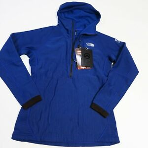 200-Women-039-s-North-Face-Summit-L2-Fuseform-Fleece-1-2-Zip-Hoodie-Small-Blue-NEW