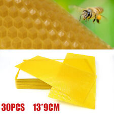 30x Honeycomb Wax Frames Beekeeping Foundation Honey Hive Equipment Bee Supplies