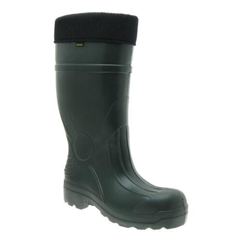 Demar Eva señores botas de goma caliente forraje lluvia botas botas con botas calcetines