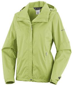 Details zu Columbia Damen Outdoor Regenjacke Jacke wasserdicht h'grün Gr. XL 4446 NEU