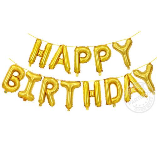 13Pcs//set HAPPY BIRTHDAY Letters Foil Balloons Birthday Party Decoration Balloon