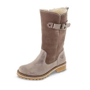 Schaftstiefel Winter Leder Stiefel Mustang Schuhe Beige Reißverschluss Damen 8Z0XwPNnOk