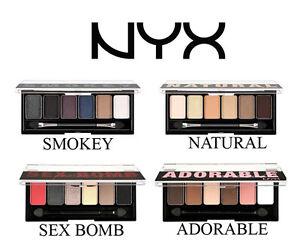 NYX-Eyeshadow-Palette-choose-ADORABLE-NATURAL-SMOKEY-SEX-BOMB-6-shadow-shades