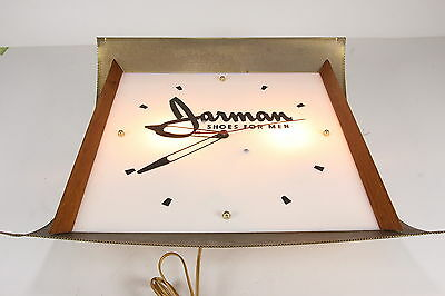 Vintage Jarman Shoes For Men Lighted Advertiser Clock