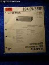Sony Service Manual CDX 65 / 65RF CD Changer (#3488)