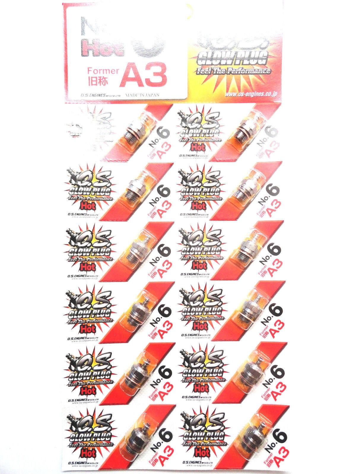 OS No.6 A3 Caliente Nitro Bujía Incandescencia - Paquete de 12 71605300