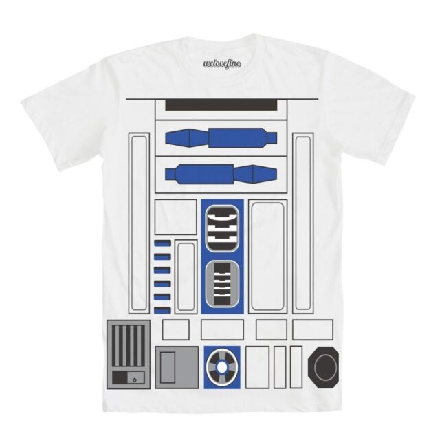 Disney STAR WARS R2-D2 Grey T-Shirt NWT