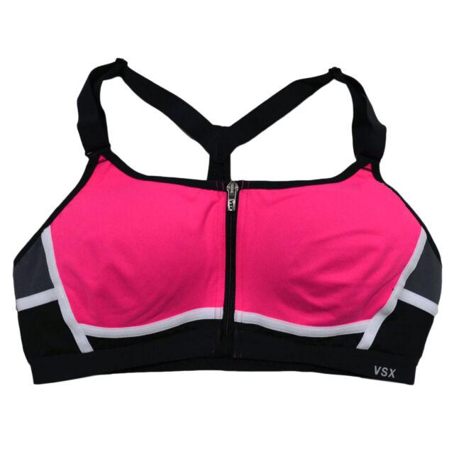 Victoria/'s Secret Sports Bra VSX The Knockout Front Zip Close Wireless Yellow