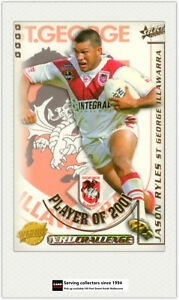 2002-Select-NRL-Challenge-Card-Club-Player-Of-year-CP12-Jason-Ryles-St-George