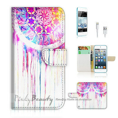 ( For iPod 5 / itouch 5 ) Flip Case Cover! Cool Dream Catcher P0172