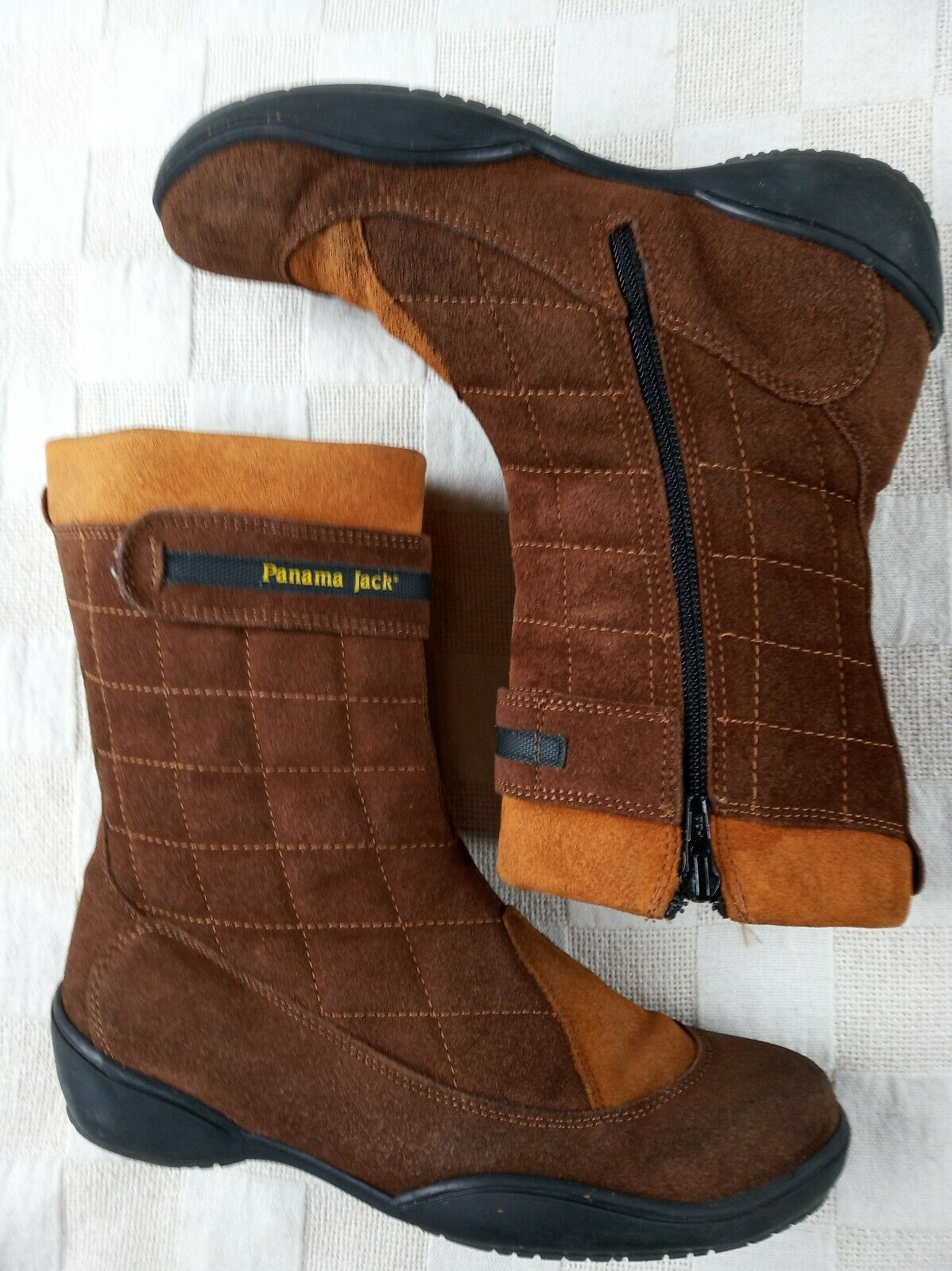 Panama Jack suede brown & orange retro boho boho boho  vintage boots 4 5fc43e