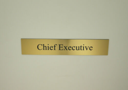 "Office Hotel Hospital School Engraved Door Name Plate Insert 1/"" x 7/"" Sign"