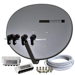 2-Teilnehmer-Anlage-MAXIMUM-E-85-T85-Multifeed-HDTV-vorbereitet-Russische-TV