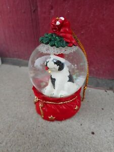 MIB BIg Dog advertising Snow Globe Dome shaped Christmas Ornament (s4)