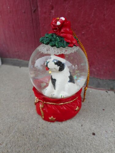 MIB BIg Dog advertising Snow Globe Dome shaped Christmas Ornament s4