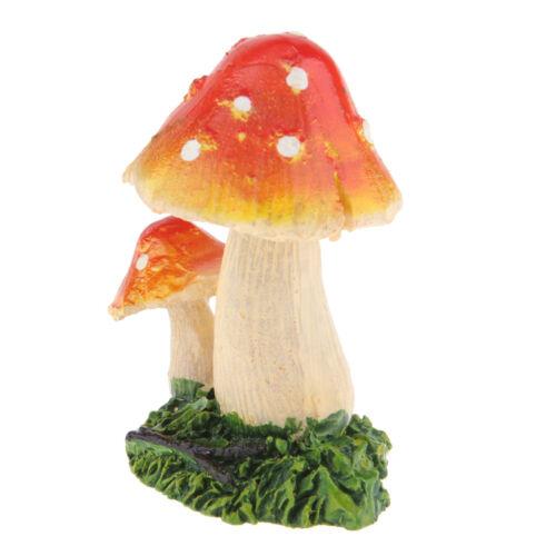 Miniatur Pilz Giftpilz Miniatur Gartendeko Dekofigur für Puppenhaus //