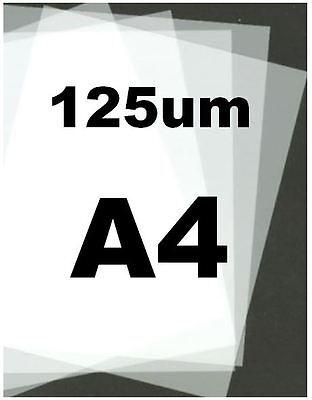Genuine MYLAR STENCIL Blank Film Sheets LASER SAFE 15 x A4 125 micron REUSABLE