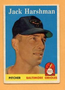 1958-Topps-Baseball-Card-217-Jack-Harshman-Orioles-VG-EX