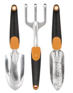 Fiskars 384490-1002 Garden Scratch Tool Set, Recyclable Package, Black/Orange