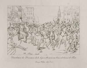 Grabado 1876: Legion Of Honor , Ejército Tilsitt. Napoleón Bonaparte