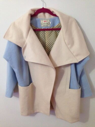 bleu Manteau oversize en de coréennes mélange femmes pour laine n8S6nx4