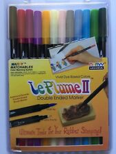Marvy Le Plume II Markers BRIGHT Double Ended Set of 6 1122-6F Brand NEW!