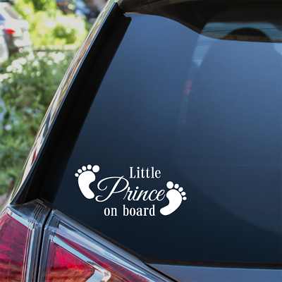 Family and child on board Car sticker Little Prince on board baby boy on board Prince Family car sticker