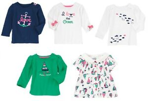 0e34166b5 Gymboree Stripes & Anchor Tops 18-24 2T 3T 4T 5T New Toddler Girl ...