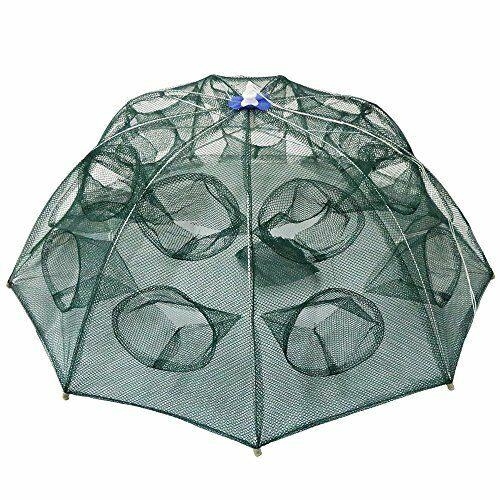 Portable Folded 18 Holes Fishing Mesh Net for Shrimp  Minnow C fish Crab Baits  best sale