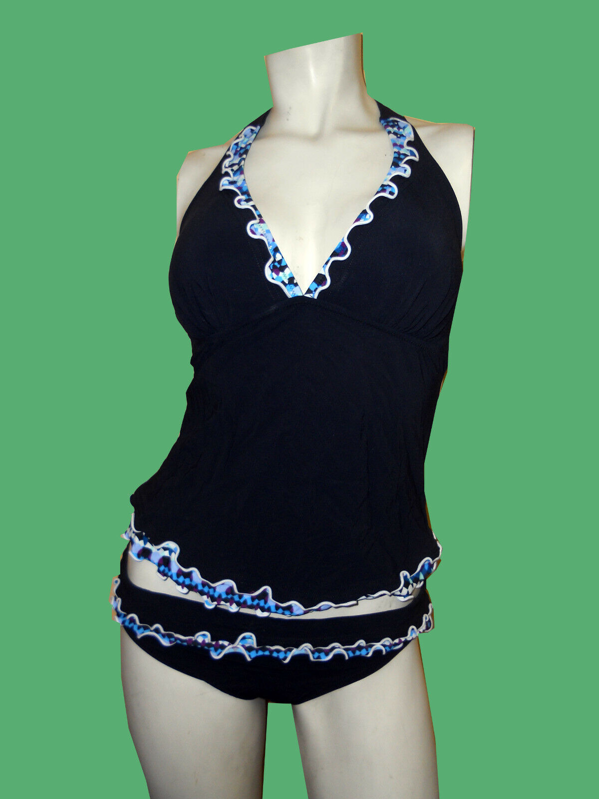 NWT PROFILE BY GOTTEX Kaleidoscope HALTER BATHING SUIT SUIT SUIT SWIMSUIT TANKINI SET - 6 fb718c