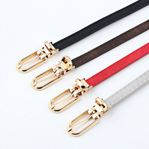 Ladies Belt Pin Buckle Narrow Belts Wild Dress Jeans Decoration Multi-color