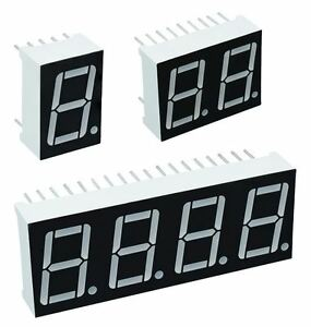 "7 Segment 0.56"" LED Displays / Common Cathode or Anode"