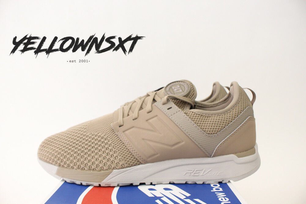 NEW BALANCE 247 KNIT SZ 13 WINTER KNIT TAUPE KHAKI OFF Blanc MRL247KT