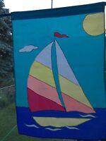 Vintage Sailboat 28 X 40 Large Garden Decorative Flag