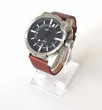 Original diesel señores reloj marrón negro de cuero dz4270 nuevo