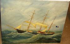 Ölgemälde Bild Segelschiff Marine Meer Segler Gemälde See Modellschiff Schiff