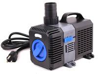Adjustable Submersible Inline Fountain Waterfall Koi Filter 1375 Gph Pond Pump